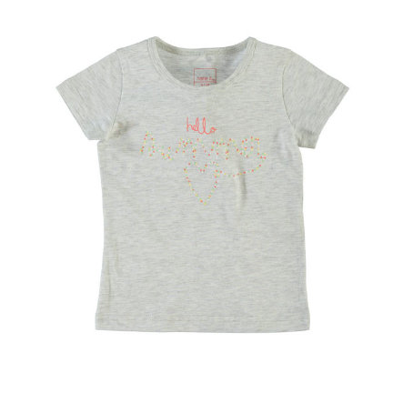 Name it Girls Bluzka z krótkim rękawkiem NITVEEN light grey melange