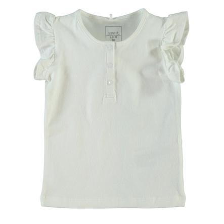 Name it Girls Bluzka z krótkim rękawkiem NITHAMA bright white