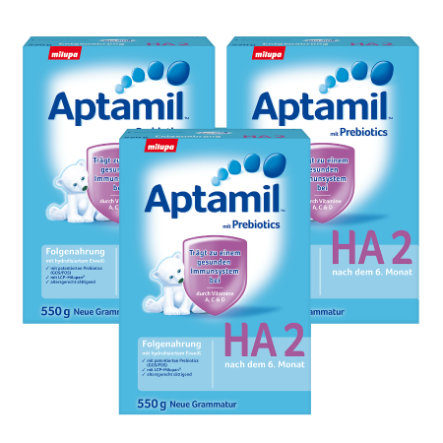 Aptamil HA 2 Follow-On Formula with Hydrolised Protein 3 x 550g