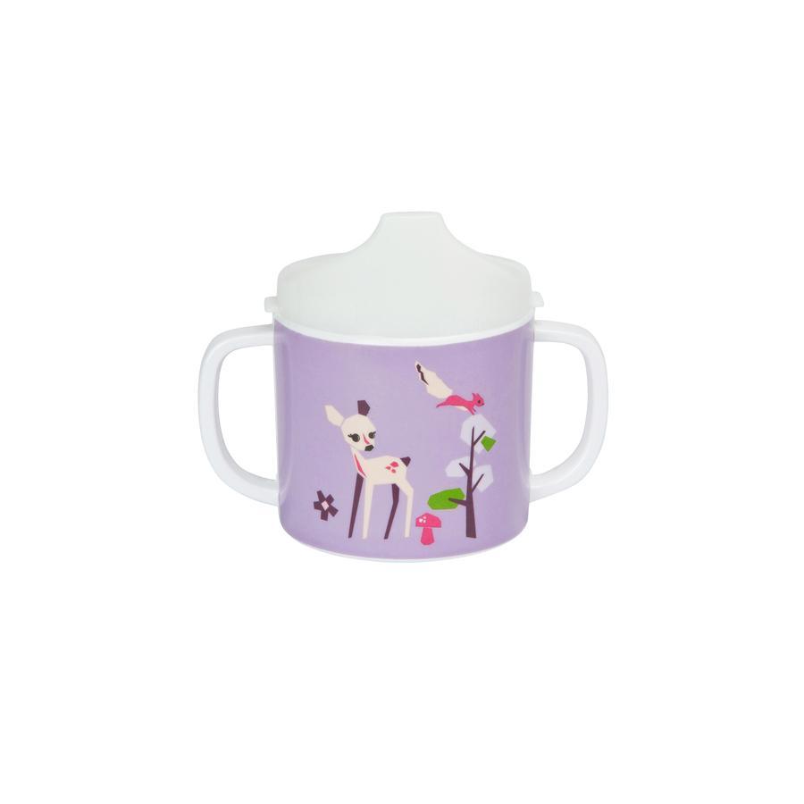 LÄSSIG Melamin Tasse mit Silikon Little Tree Fawn lila