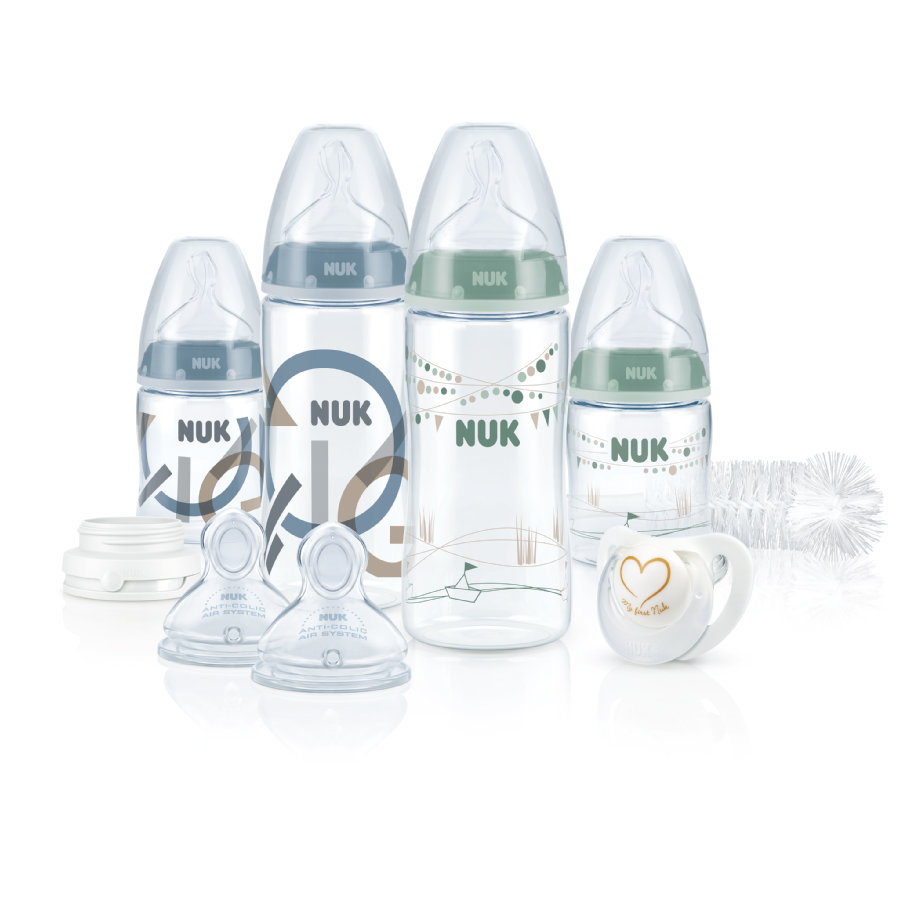 NUK First Choice + Perfect Start Set Boy s polyamidovými lahvemi vel. 1 M, 0 - 6 m