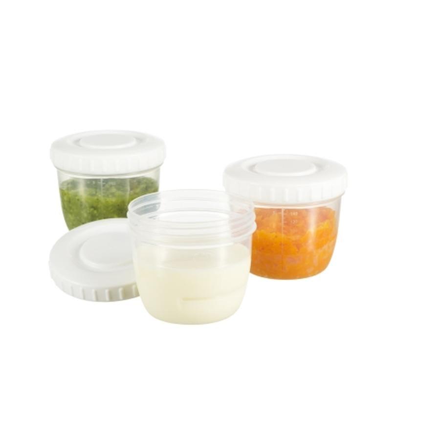 DIFRAX Bewaarbakjes voor moedermelk en babyvoeding 6 St