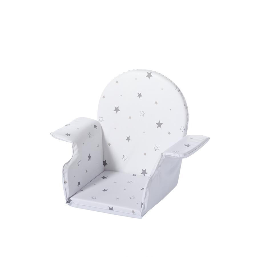 SCHARDT Polstrování do jídelní židličky XTRA hvězdičky šedé