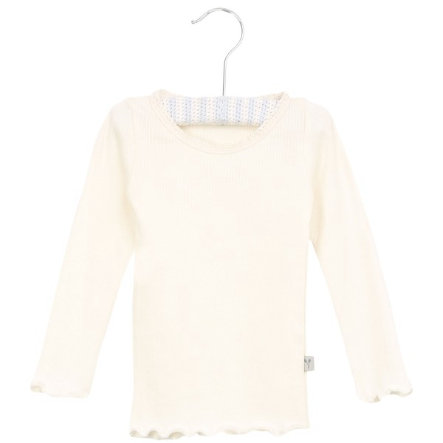 Wheat Rib Shirt Lace ivory