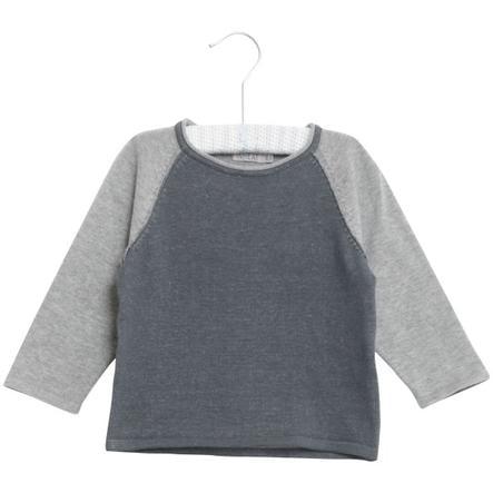 Wheat Pull en tricot Bashir bleu foncé