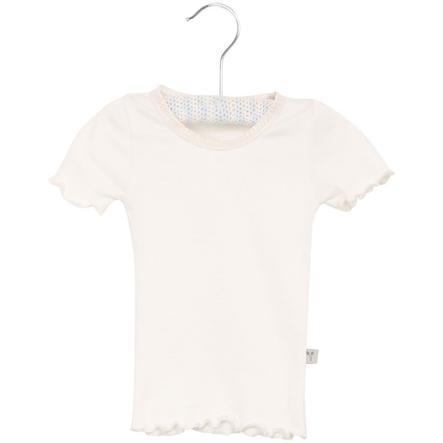 Wheat Ribkanten T-Shirt ivoor