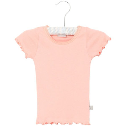 Wheat Rib T-Shirt Lace blossom