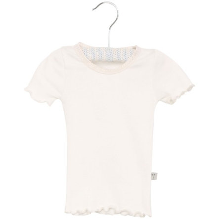 Wheat Rib T-Shirt Lace ivory small
