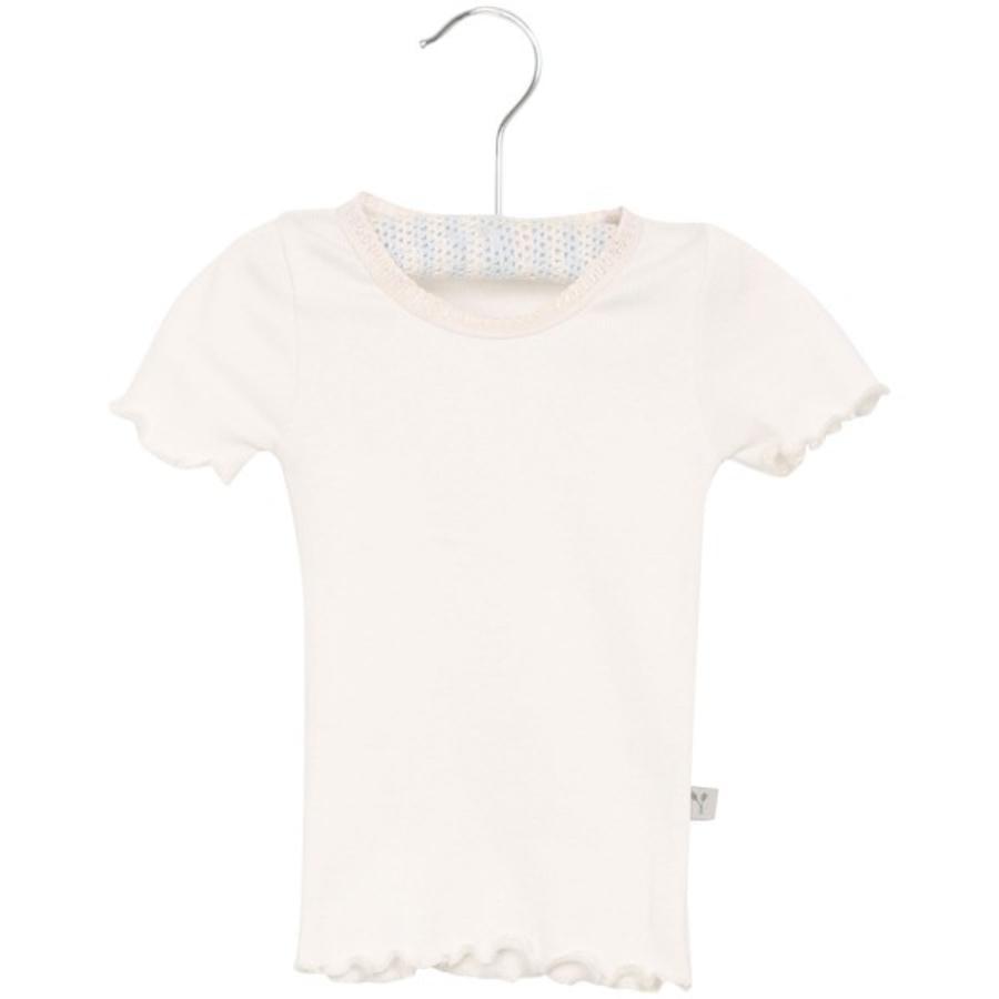 Wheat Ribkanten T-Shirt ivoor klein