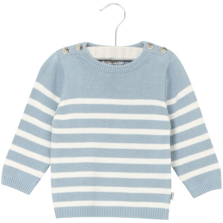 WHEAT Tröja Knit Jonas ashleyblue