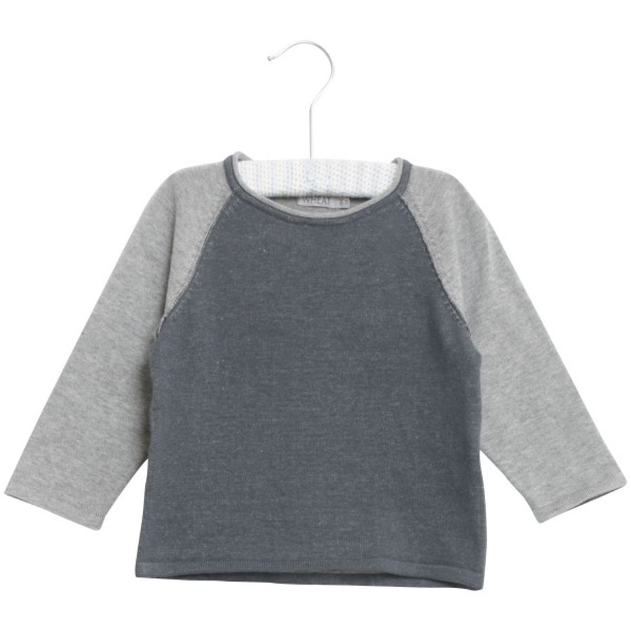 Wheat Pullover in maglia Bashir blu scuro