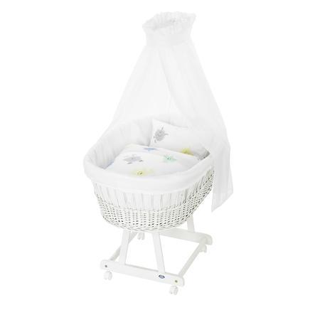 ALVI Ložní prádlo na košík pro miminko Birthe šedo-pestré