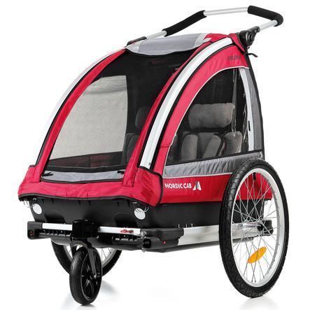 NORDIC CAB Cykel & Barnvagn, Explorer röd, kollektion 2016