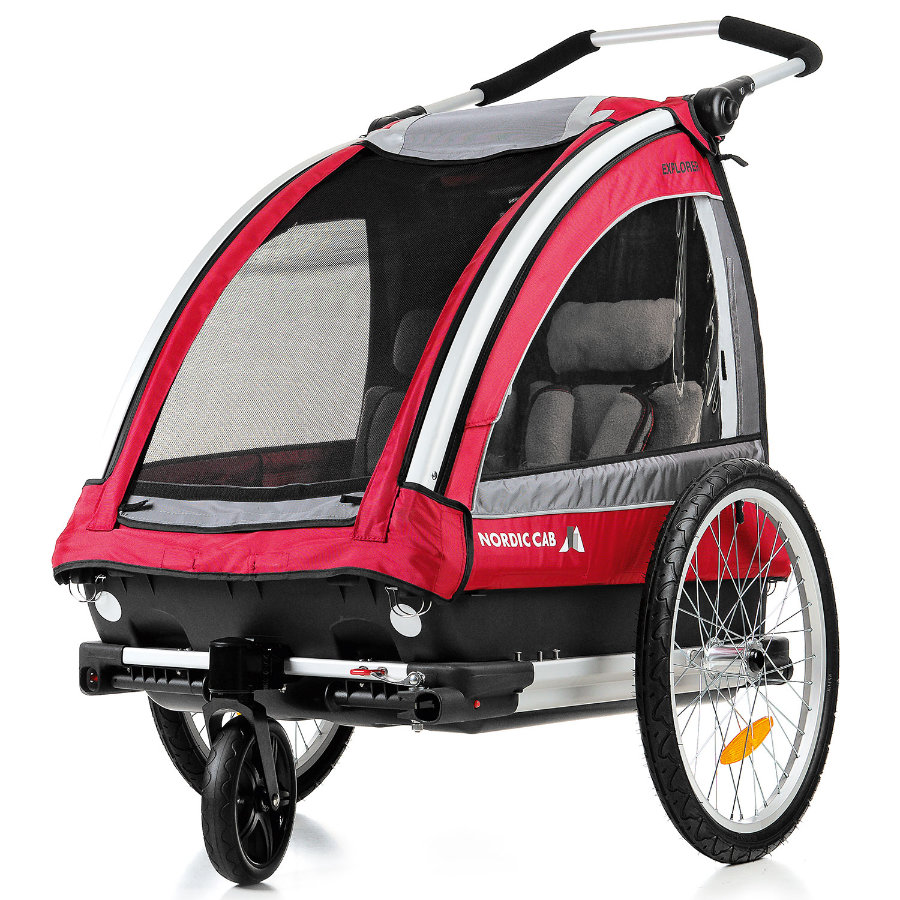 NORDIC CAB Cykeltrailer Explorer rød