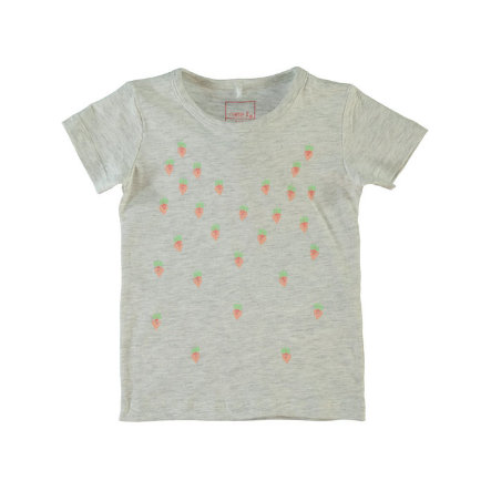 Name it Girls Bluzka z krótkim rękawem NITVEEN light grey melange