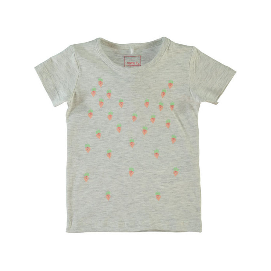 Name it Girls T-Shirt NITVEEN light grey melange