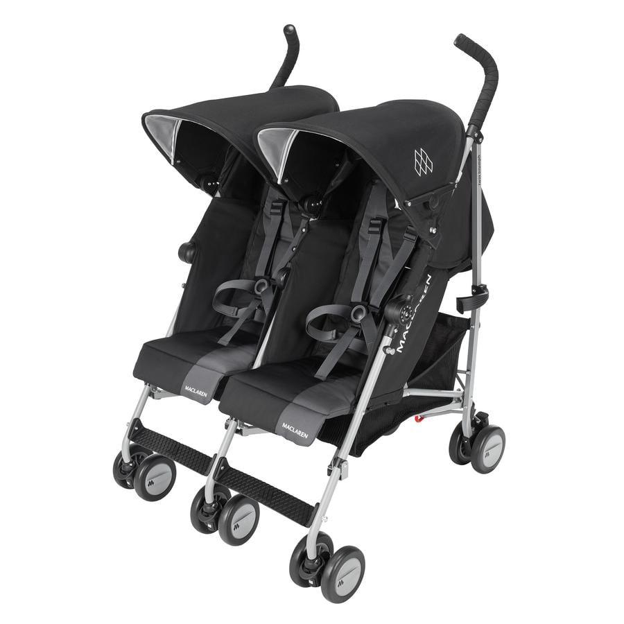 MACLAREN Passeggino gemellare Twin Triumph Black/Charcoal, nero/grigio