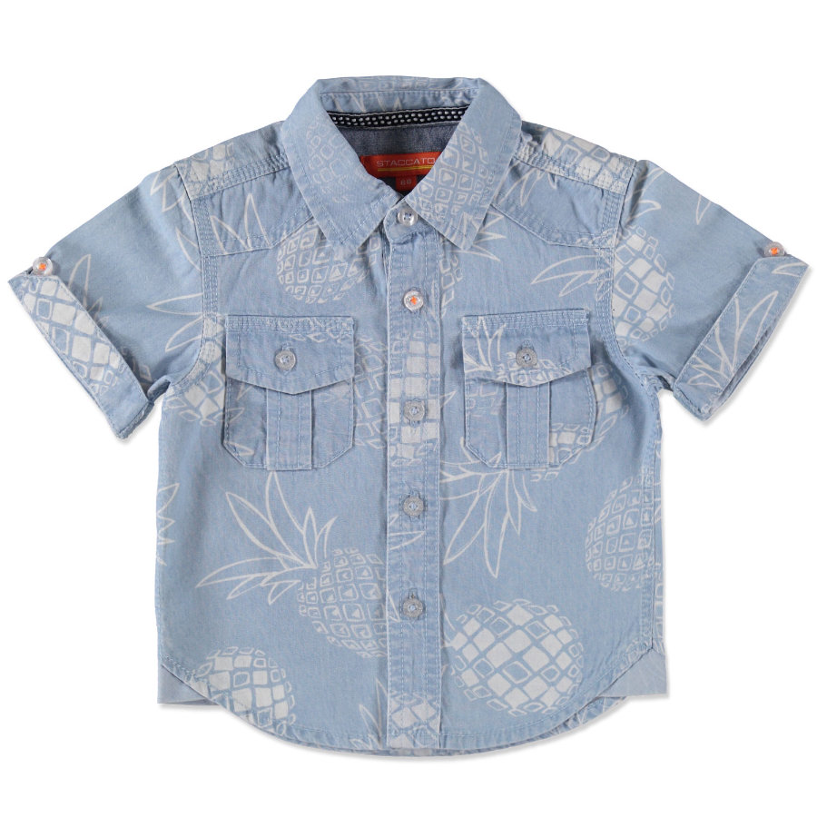 STACCATO Boys Camicia bebé in denim aop azzurro chiaro