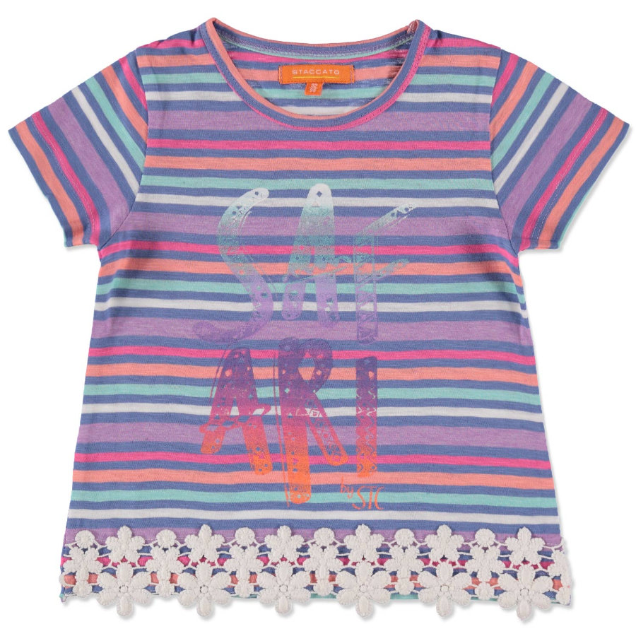 STACCATO Girls Mini T-Shirt midnight Streifen