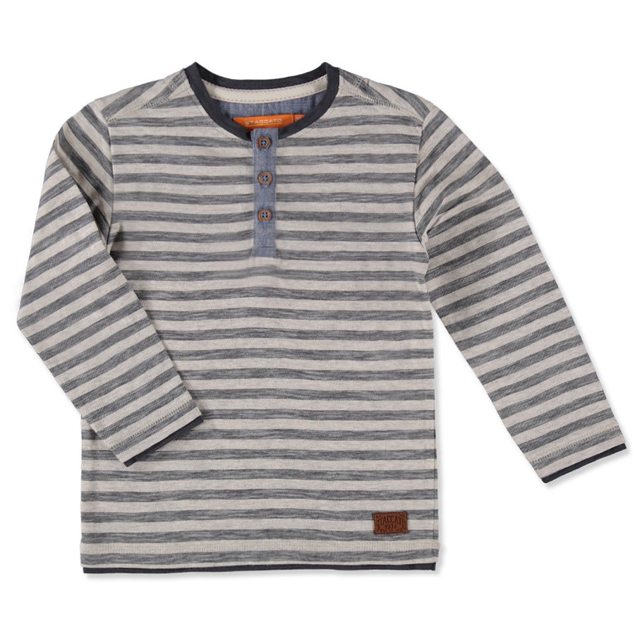STACCATO Boys Mini Shirt dark anthra streifen