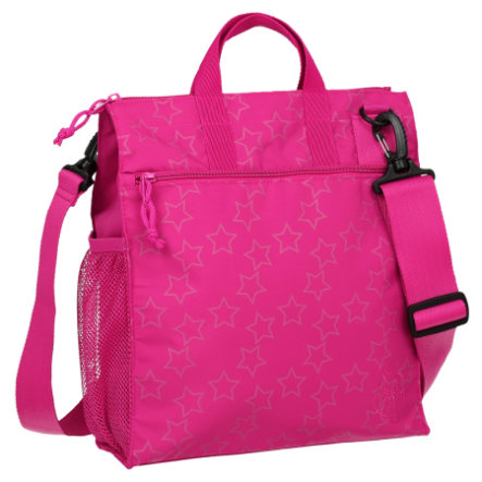 LÄSSIG Wickeltasche Casual Buggy Bag Reflective Star magenta