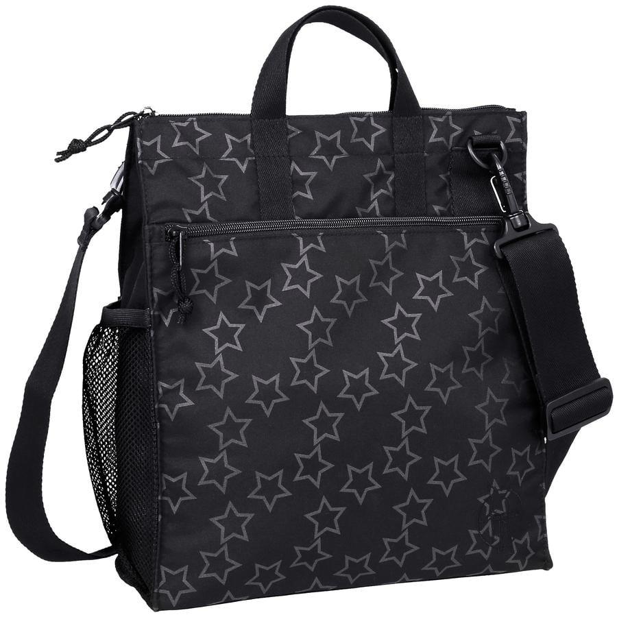 LÄSSIG Casual Buggy Bag Přebalovací taška Reflective Stars black