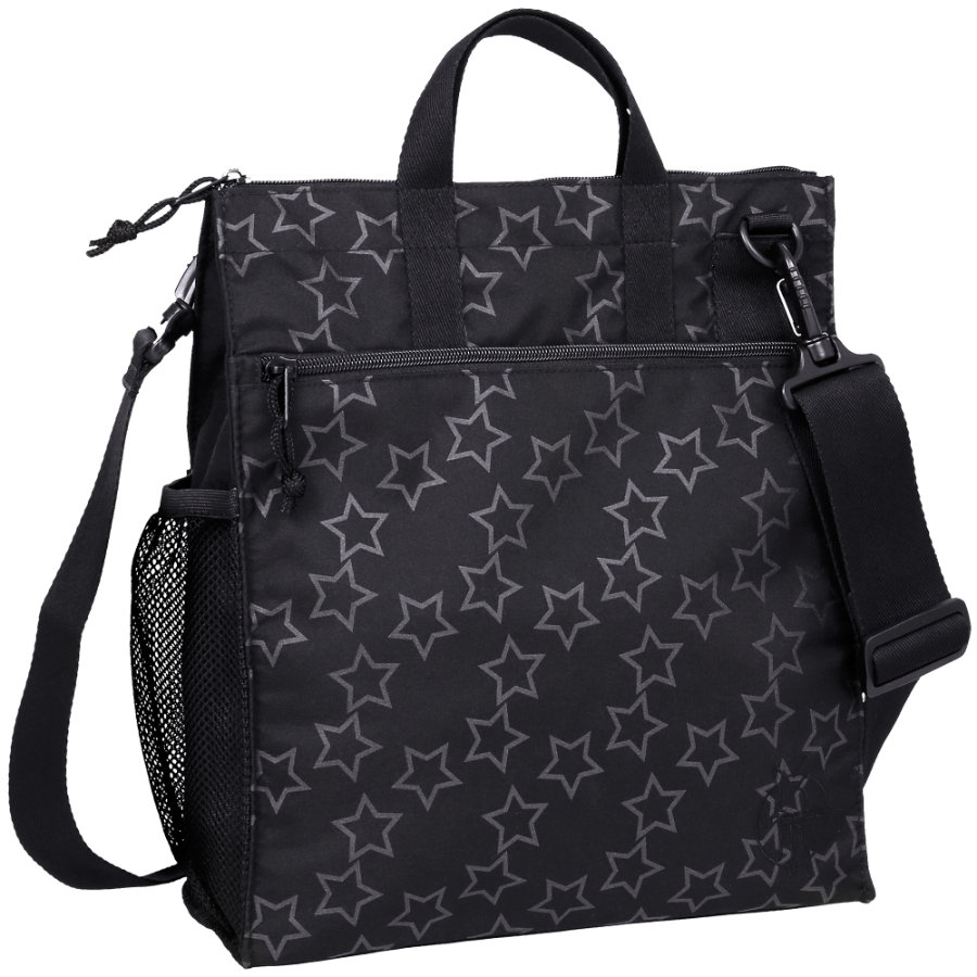 LÄSSIG Wickeltasche Casual Buggy Bag Reflective Star black