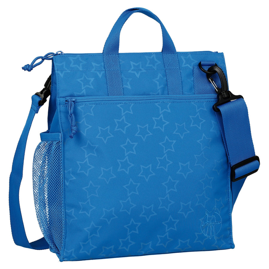 LÄSSIG Luiertas Casual Buggy Bag Reflective Star blue