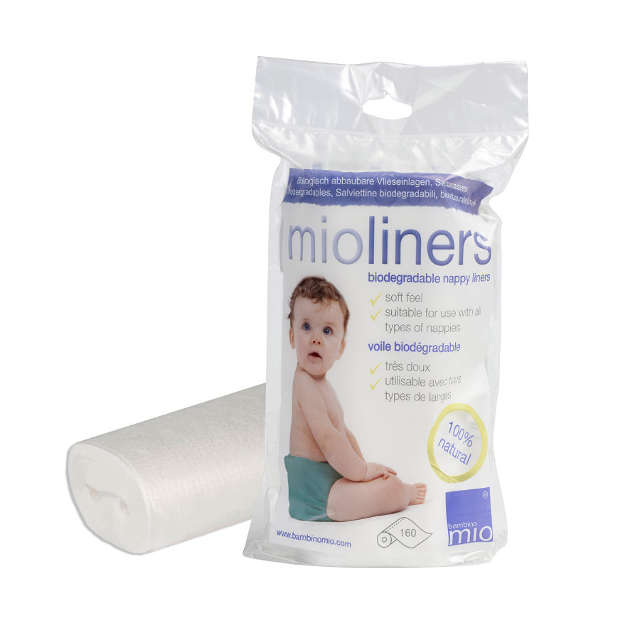 BAMBINO MIO Voiles Mioliners, biodégradables, 160 pièces