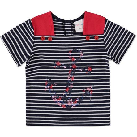Pink or blue Bluzka z krótkim rękawkiem paski blue
