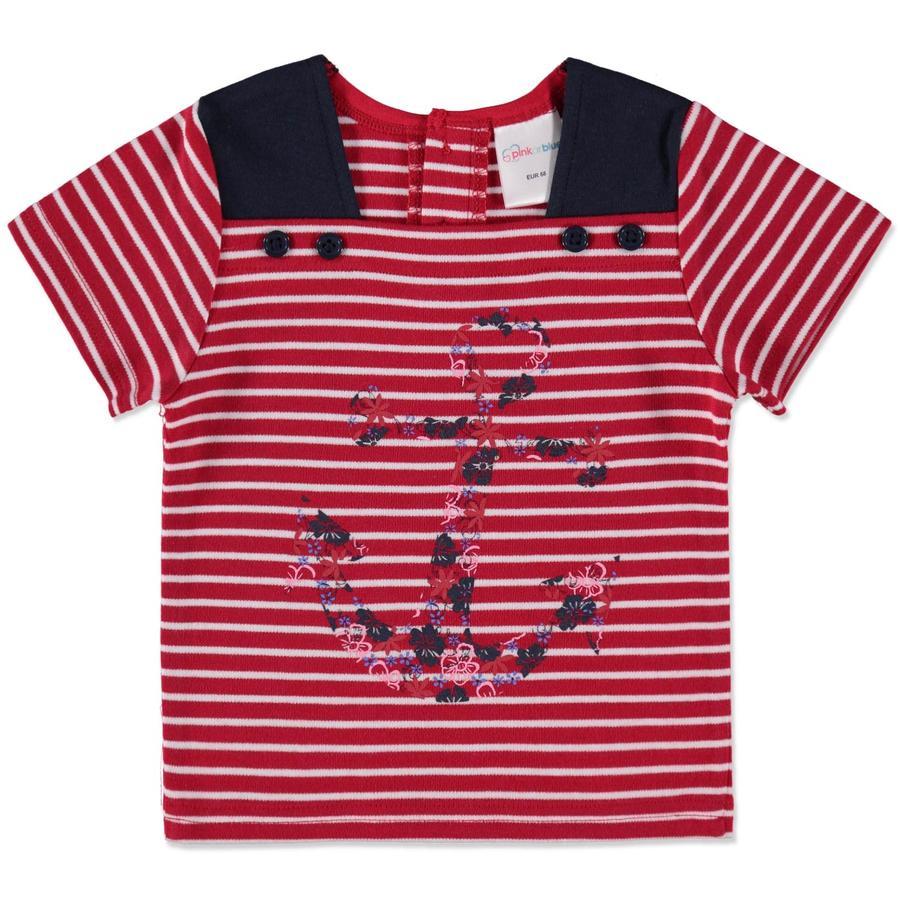 Pink or blue Camisa rayas rojas