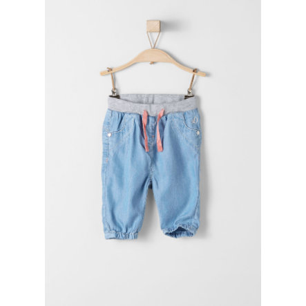 s.Oliver Girls Hose blue denim non stretch