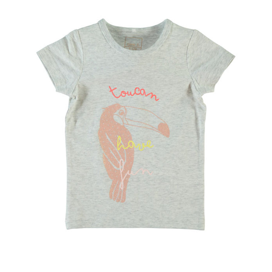 name it Girls T-Shirt NITVIX light grey melange