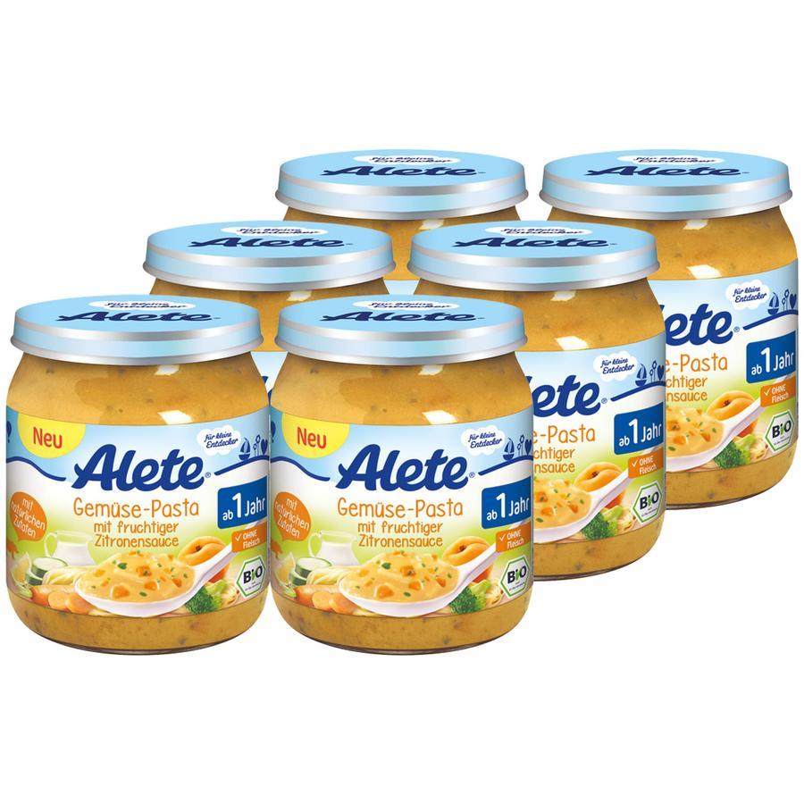 Alete Gemüse-Pasta mit fruchtiger Zitronensauce 6 x 250 g