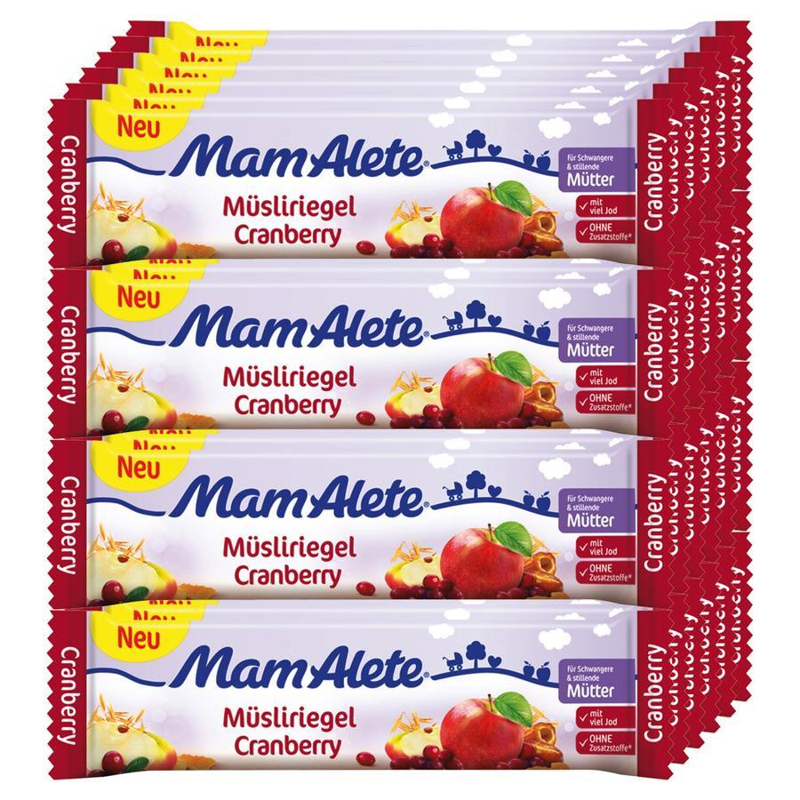 MamAlete Müsliriegel Cranberry 24 x 40 g