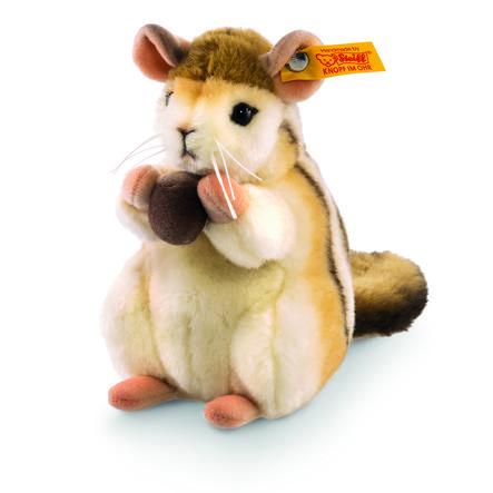 Steiff Kecki Streifenhörnchen braun/creme, 15 cm