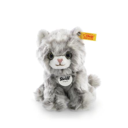 Steiff Minka Kätzchen grau gestreift, sitzend 17 cm