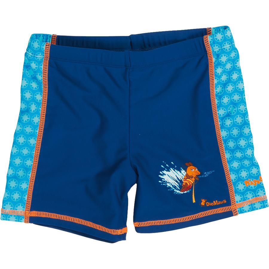 Playshoes Short de bain enfant, protection UV, La Souris, bleu marine