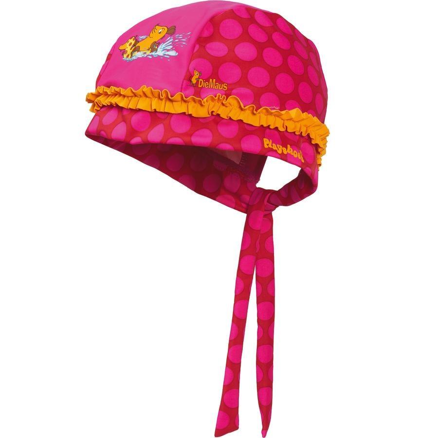 Playshoes UV šátek na hlavu myš pink