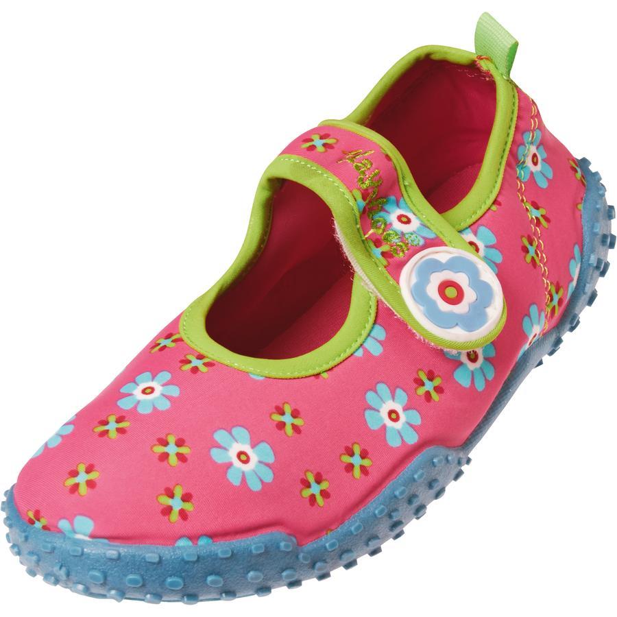 Playshoes UV-suoja Aqua-kengät kukka vaaleanpunainen