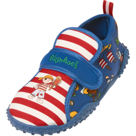 PLAYSHOES Boys UV-Schutz Aqua Schuhe Pirateninsel rot/weiß