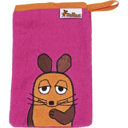 Playshoes guanto da bagno il topo rosa