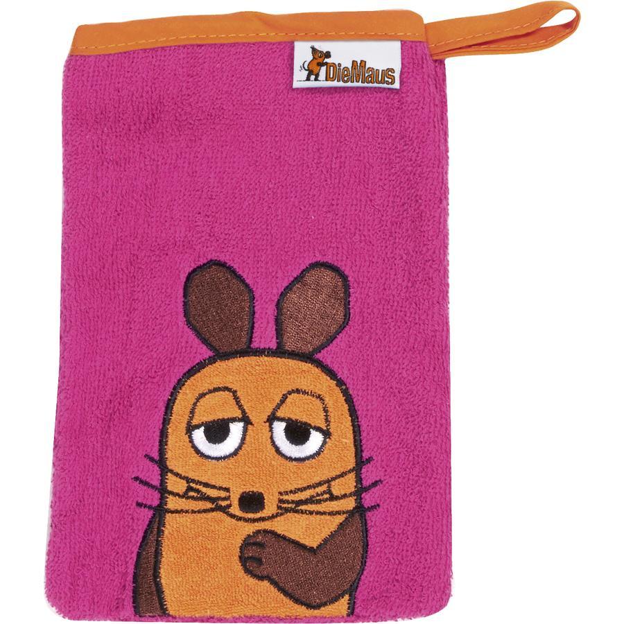 Playshoes Gant de toilette enfant éponge La souris rose