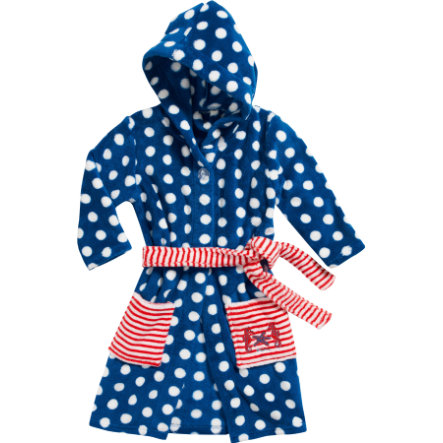 Playshoes Girls Fleece-Bademantel Seepferdchen