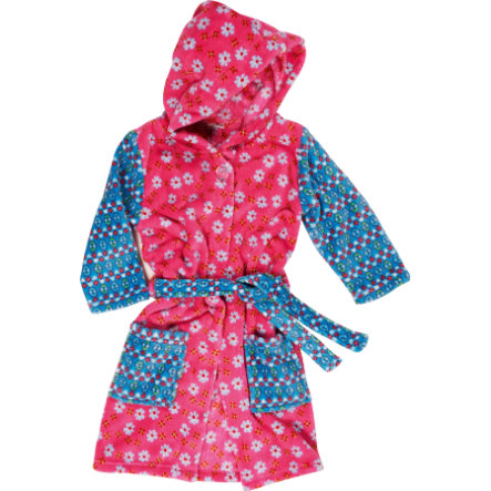 PLAYSHOES Girls Badjas fleece bloemen