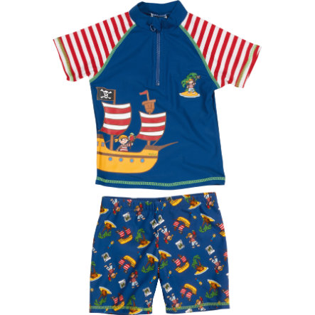 Playshoes Boys UV-Schutz Bade-Set Piratenisel rot/weiß