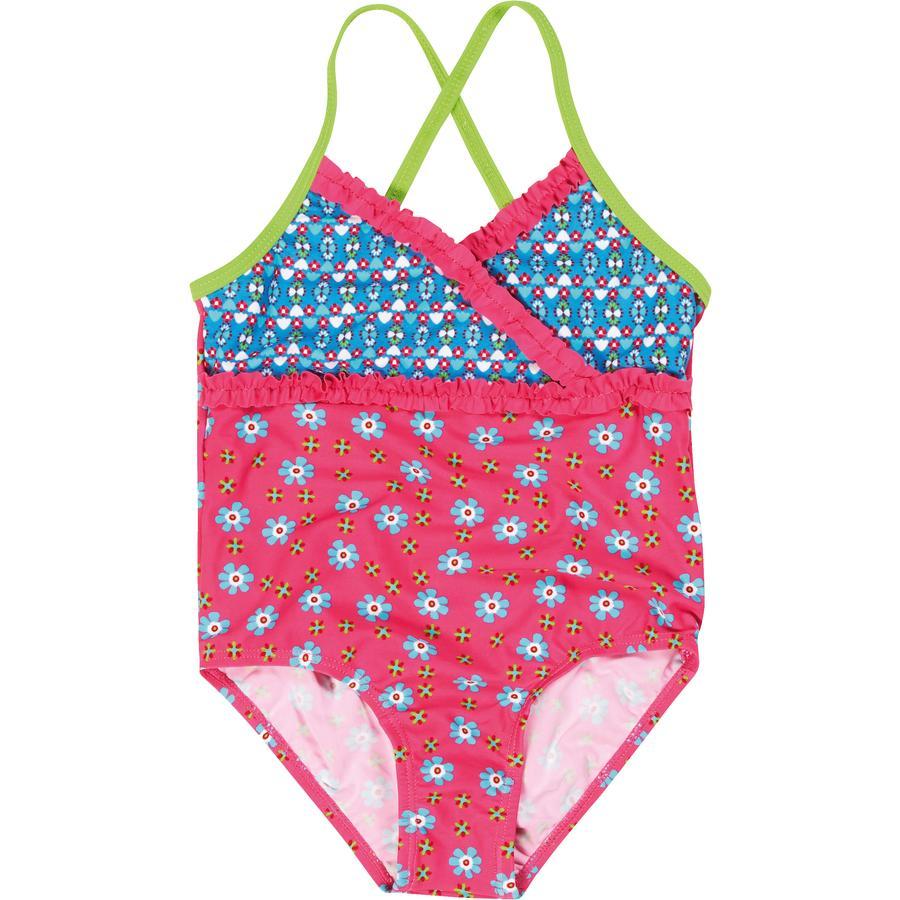 Playshoes UV-suoja uimapuku kukka vaaleanpunainen