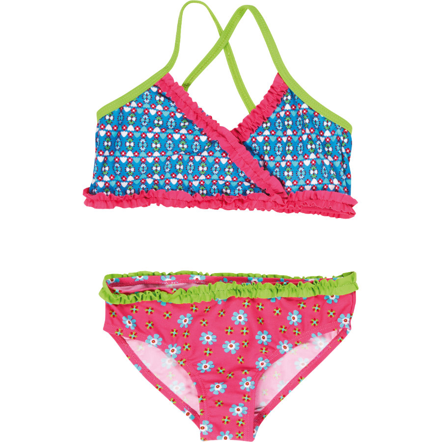 Playshoes Girls UV bikiny květinkové pink