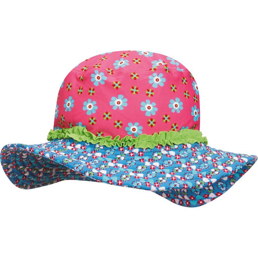 Playshoes Girls UV-Bescherming Zonnehoed Bloemen pink
