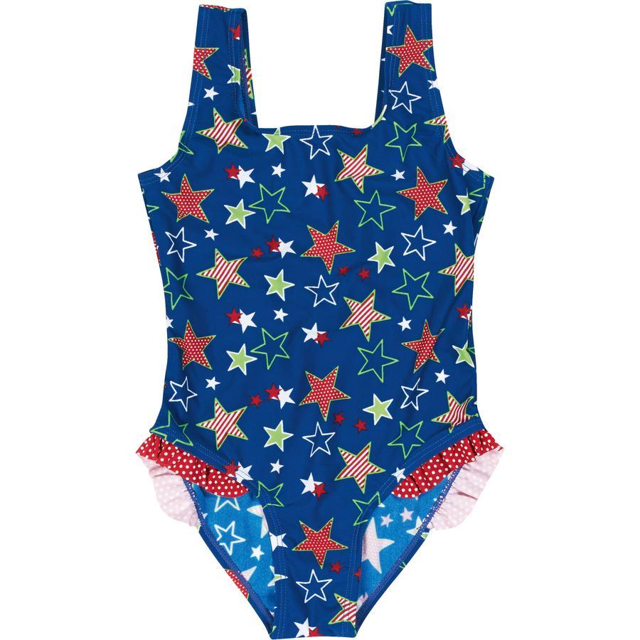 Playshoes Maillot de bain enfant, protection UV, fille, Étoiles, bleu